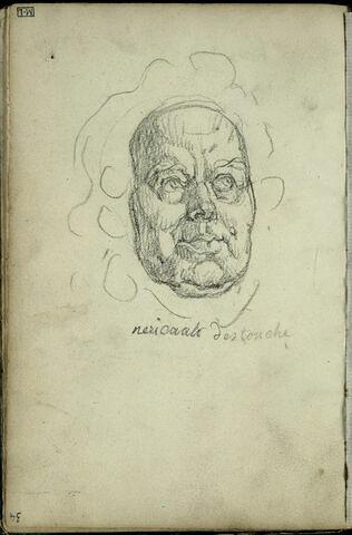 Tête d'homme avec une chevelure bouclée