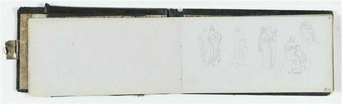 Etude de femme et enfant avec annotations manuscrites
