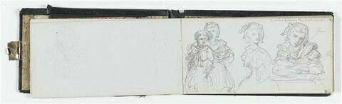 Diverses études avec annotations manuscrites