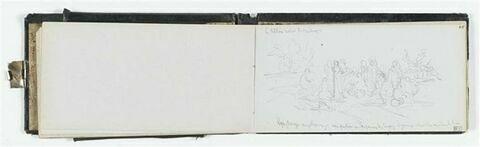 Etudes de composition dans un paysage ; annotations manuscrites