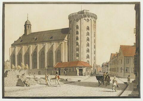 L'église de la Trinité et l'Observatoire de Copenhague