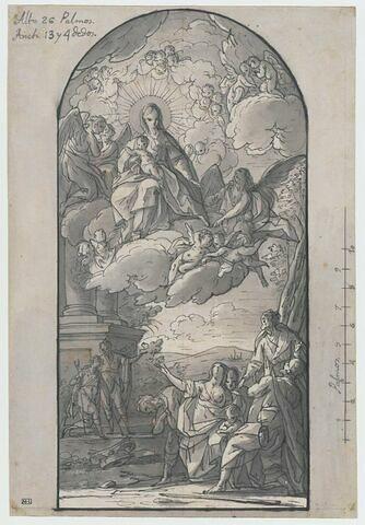 Apparition de la Vierge à l'Enfant à des pélerins