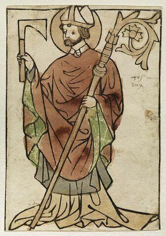 Saint Wolfgang tenant une hache dans sa main
