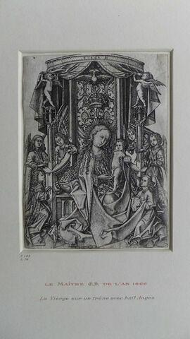 La Vierge sur un trône entourée de huit anges