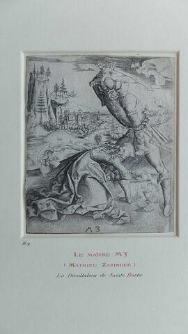 Le martyre de Ste Barbe