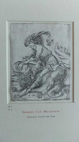 Samson tuant un lion