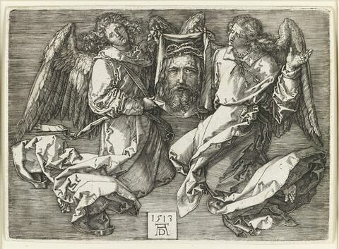 La Sainte Face portée par deux anges