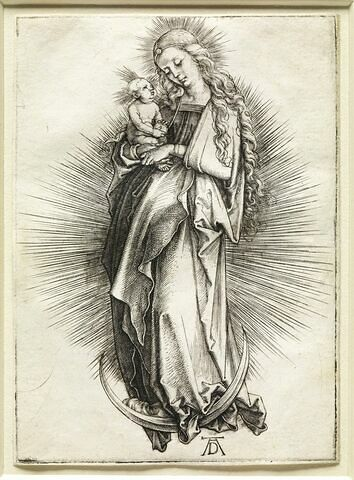 Vierge à l'Enfant sur un croissant de lune