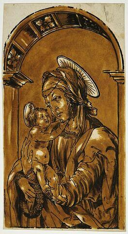 Le Vierge debout tenant l'enfant Jésus