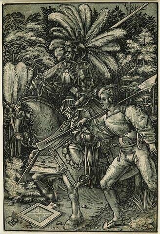 Le chevalier et son piqueur