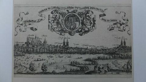 Vue de la ville de Nuremberg prise à l'ouest