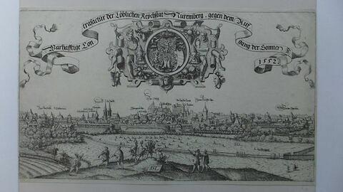 Vue de la ville de Nuremberg prise à l'est