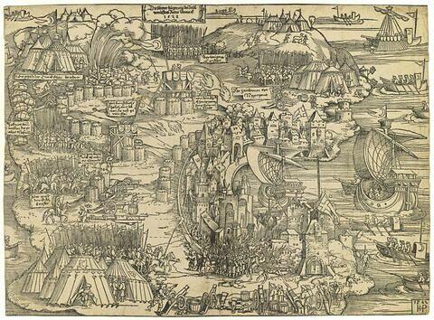 Siège de l'Ile de Rhodes par les turcs