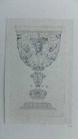 Un vase à boire (mascaron barbu)