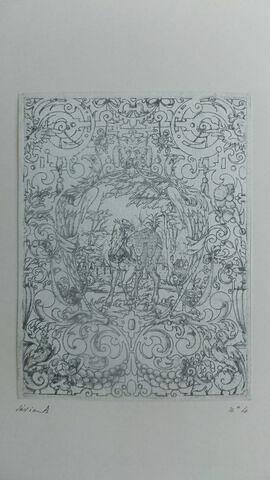 Huit pièces gravées au maillet