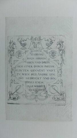 Titre d'un recueil de 37 pièces - 1593