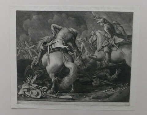 Deux combats de cavaliers