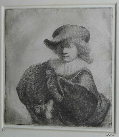 Rembrandt au chapeau rond et au manteau brodé