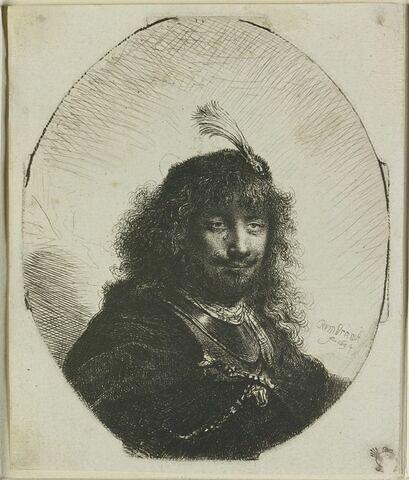 Rembrandt au sabre et à l'aigrette
