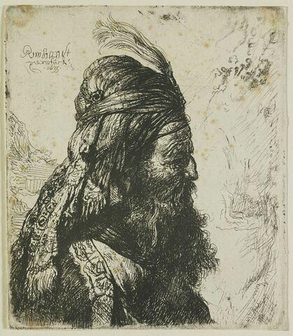Turc au turban et à l'aigrette (troisième tête orientale)
