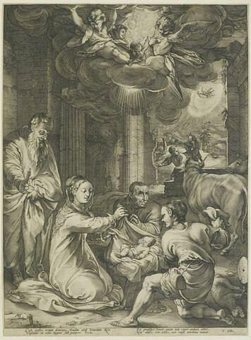 Les pasteurs adorant Jésus