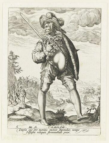 Un soldat armé d'un espadon