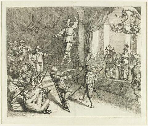 Cromwell comme danseur de cordes