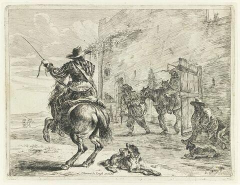Le cavalier allant au galop