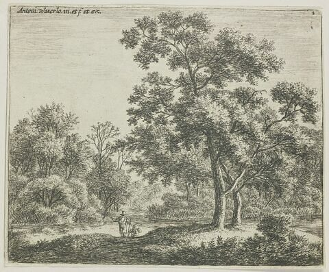 Les deux voyageurs dans le bois