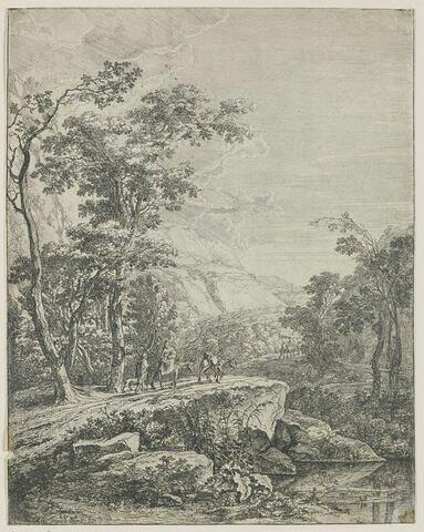 La femme montée sur le mulet