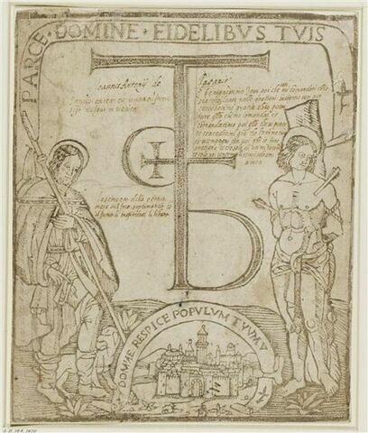 Les deux saints protecteurs contre la peste : Saint Roch et Saint Sébastien