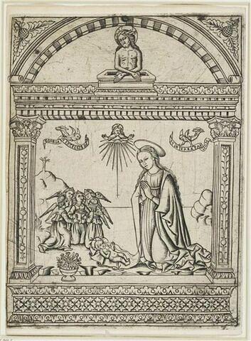 La Vierge adorant l'enfant Jésus