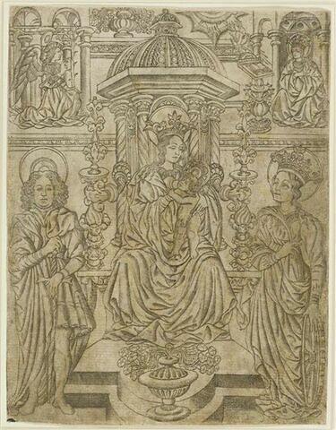 La Madone sur un trône entre Saint Théodore et Sainte Catherine