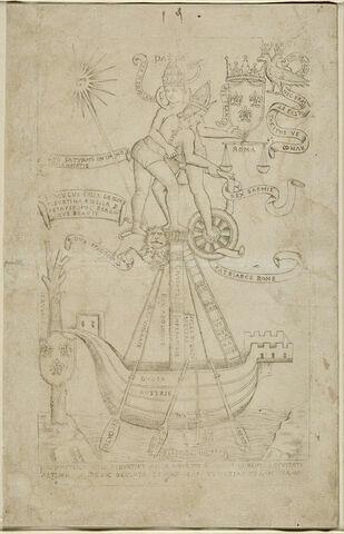 Pièce emblématique sur le Pape et l'Empereur
