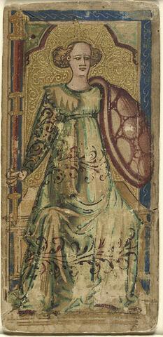 Carte à jouer : La dame de bâtons