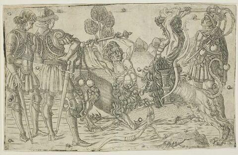 Le combat entre deux centaures