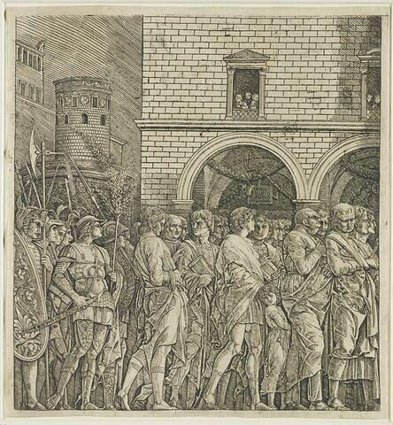 Le Sénat de Rome accompagnant un triomphe