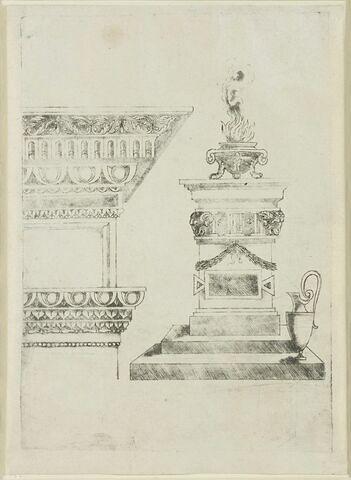 Entablement et autel