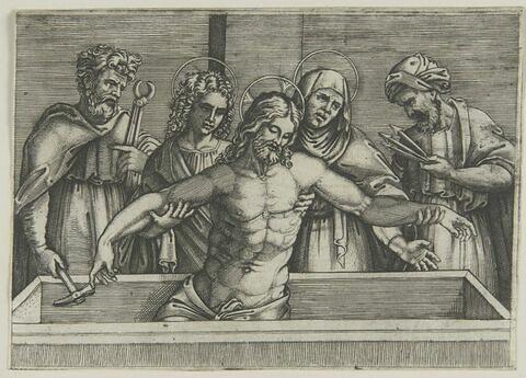Jésus Christ dans le tombeau