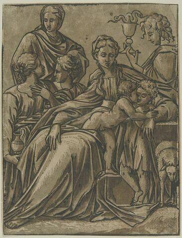 La Vierge entourée de saints et de saintes