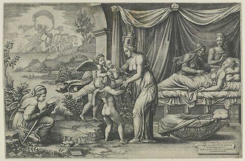Cybèle remettant à deux génies Memnon
