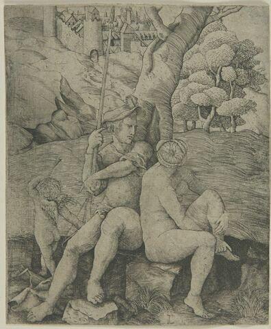Mars, Vénus et l'Amour au pied d'un arbre