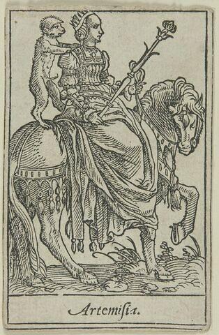 Carte à jouer.Artemisia