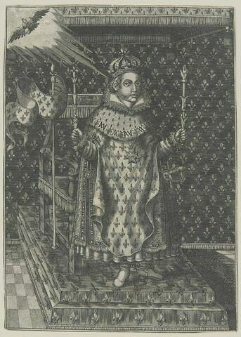 Louis XIII en pied dans ses habits royaux
