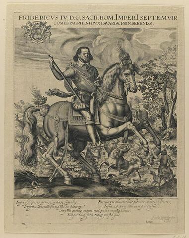 Frédéric IV à cheval