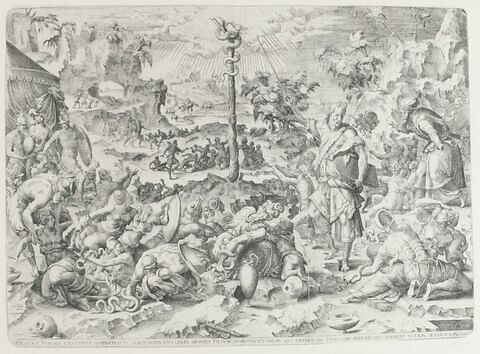 Moïse montrant le serpent d'airain
