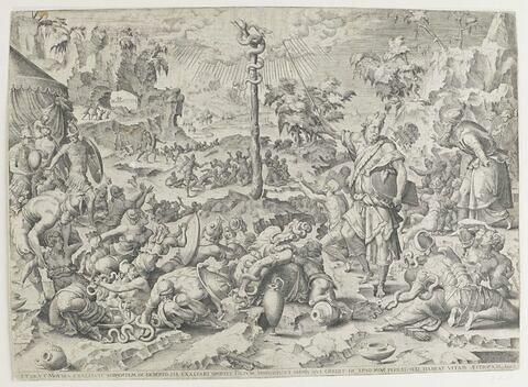 Moïse montrant au peuple le serpent d'airain