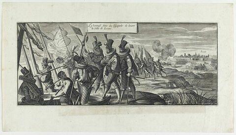 Fuite des Espagnols devant Lucate