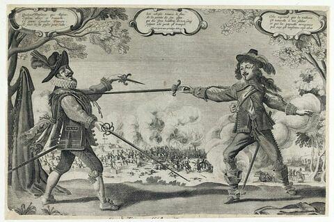 Siège de Turin : duel entre un Français et un Espagnol