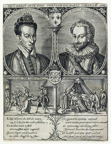 Portraits de Henri III et de Henri IV